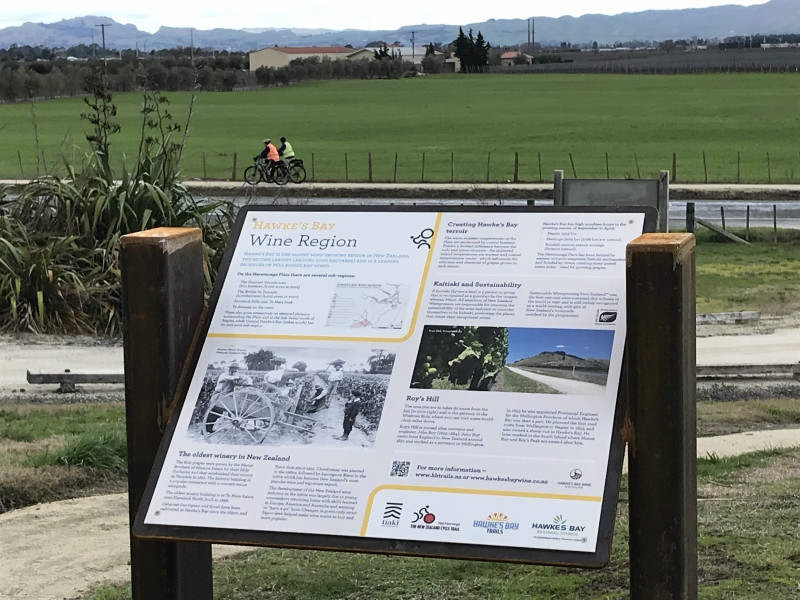 HB wine region installed with cyclists